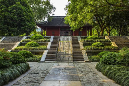 One of the main halls at the Ming Xiaoling Tomb in Nanjing China Editorial