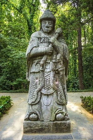 Guardian Statue at the Ming Tombs in Nanjing China Stock Photo - 16981576