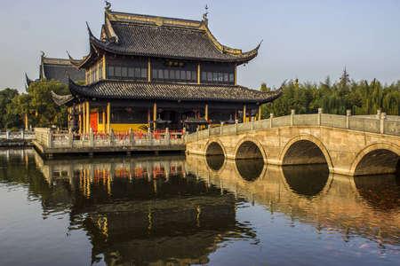 zhouzhuang: Quanfu Temple in Zhouzhuang China Stock Photo
