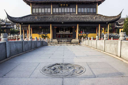 Quanfu Temple in Zhouzhuang China Stock Photo