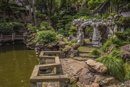 Yu Yuan Garden in Shanghai China Stock Photo