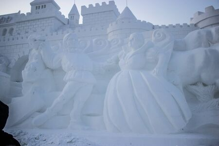 Snow Sculptures at the Harbin Snow and Ice Festival in Harbin China