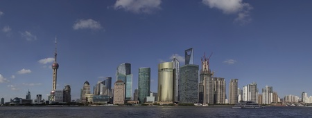 Panoramic View of the Shanghai Skyline