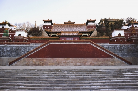 One of the grand staircases up the mountain at the Summer Palace, Beijing, China