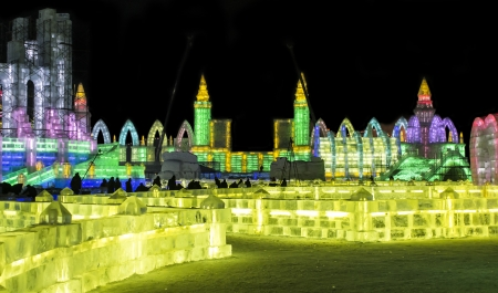 a wonderful world:  Ice Buildings at the 2013 Snow and Ice Festival in Harbin China
