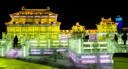 Ice Buildings at the 2013 Snow and Ice Festival in Harbin China