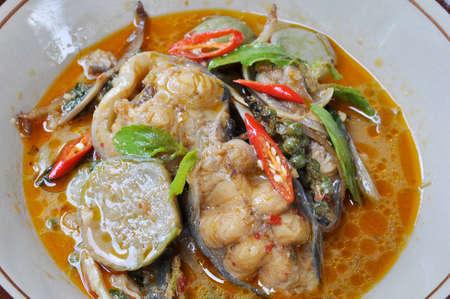 Spicy fried catfish thai food