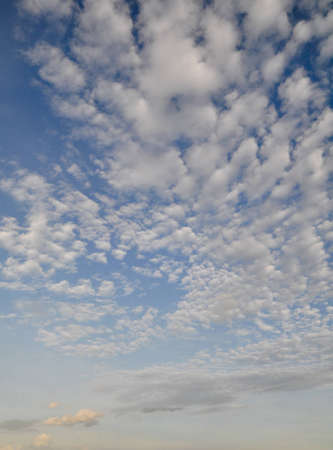 Blue sky and Streaked White clouds
