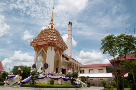 Crematory in  Buddhism fo thai temple Stock Photo