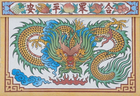 dragon god painting in shrine