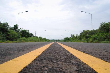 Rural area road in thailand
