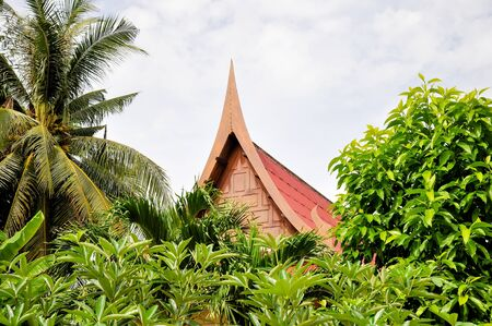 Gables of the ancient Thai houses