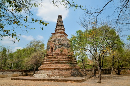 Ancient pagoda temples in Thailand Stock Photo