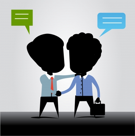 business man shake hands and talking Illustration