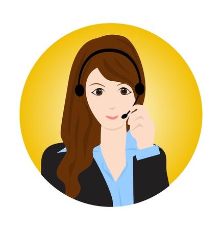 servicio al cliente: mujer de servicio al cliente Vectores