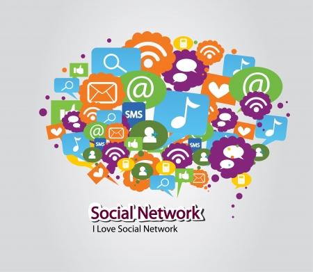social media concept: social network bulb