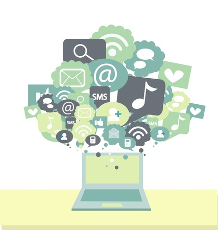 compatibility: social media signs Illustration