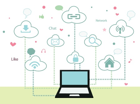 social system: cloud computing concept