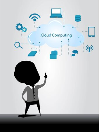 cloud computing illustration Vector