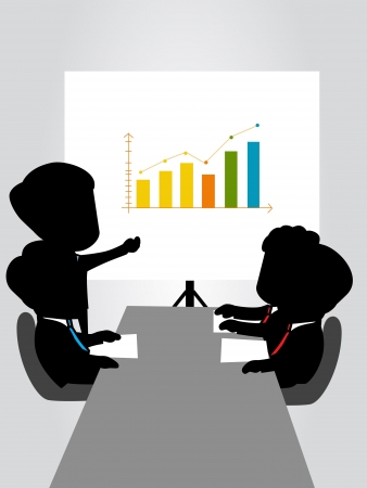 boardroom: business meeting silhouette