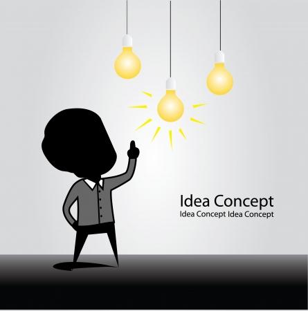 아이디어 개념 일러스트