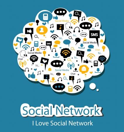 trabajo social: red social Vectores