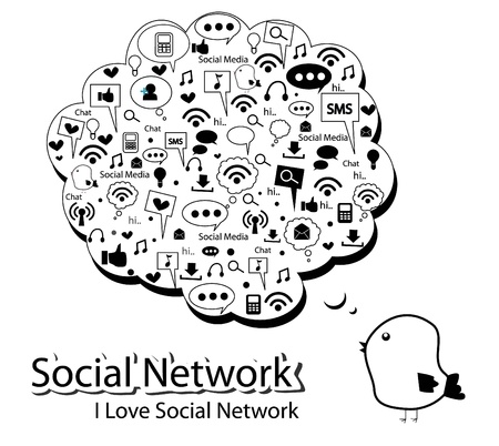 silhouette social network