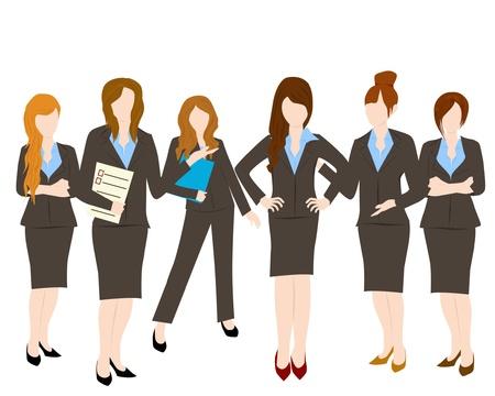 follow the leader: groep van zakelijke vrouw