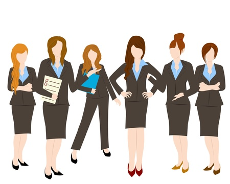 group of business woman Stock Vector - 16136175