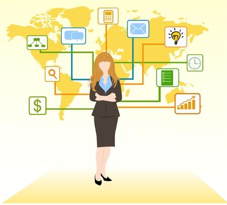 concepto de mujer de negocios