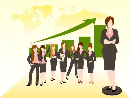 비즈니스 여성 팀 성공 개념