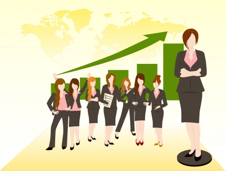 business woman team success concept