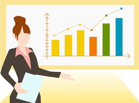 business chart illustration Stock Vector - 16433630