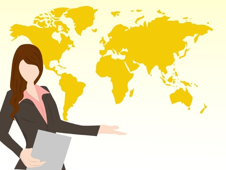 business woman presentation Stock Vector - 16433635