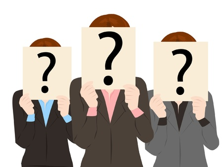 business people with question mark collection vector Vector
