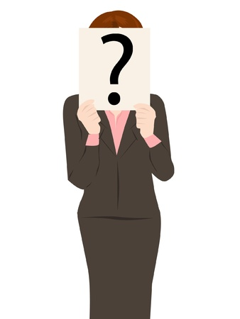 business people with question mark Vector