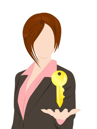 business woman with solution concept Stock Vector - 16485810