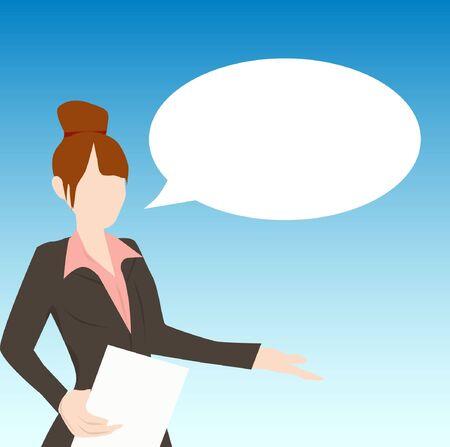 balloon woman: woman talking