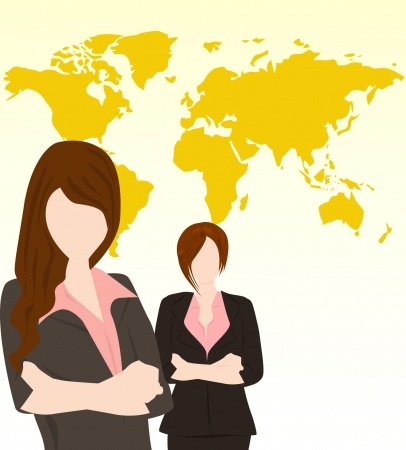 two business woman Stock Vector - 16672985
