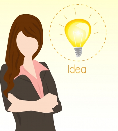 business woman with big idea Stock Vector - 16810321