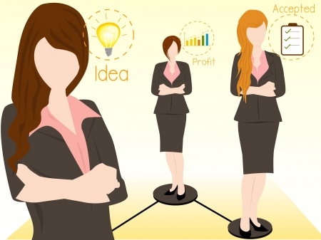 business woman and job Stock Vector - 16810322