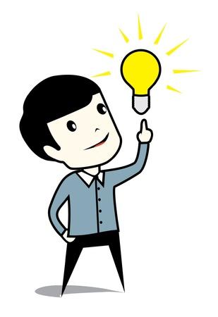 team leadership: business man with idea concept