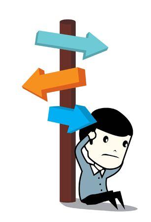 advisory: business man choose the way