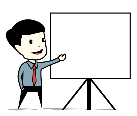 business man presentation Stock Vector - 16892801