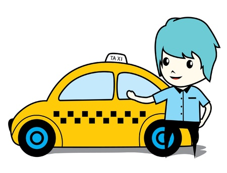 taxi car Stock Vector - 16892799