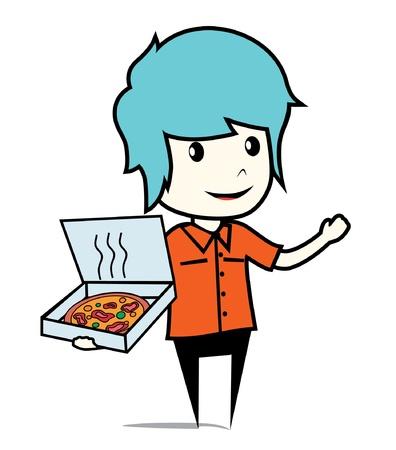 pizza box Stock Vector - 16892797