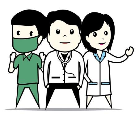 operating room: el personal del hospital