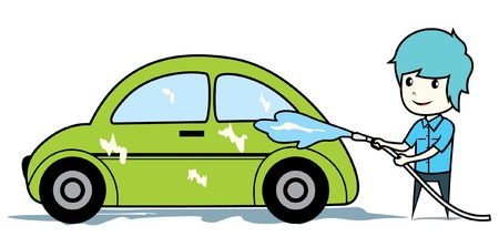 car washing Vector