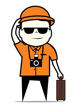 travelers: tourist guide