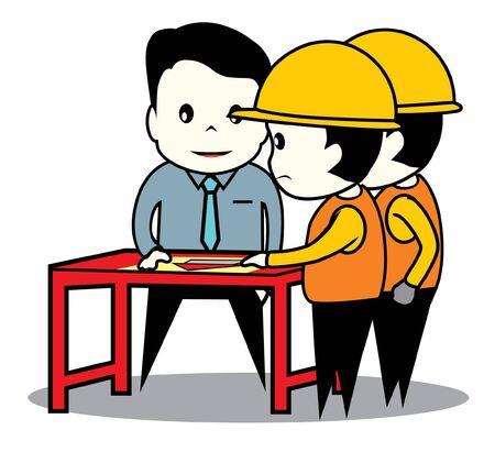 architect engineer Stock Vector - 17050148
